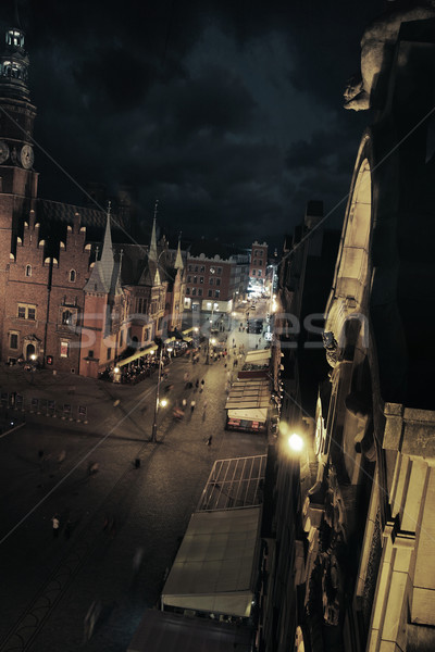 Night city view Stock photo © konradbak