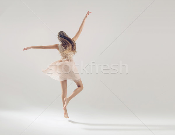 Young talented athlete in ballet dance Stock photo © konradbak