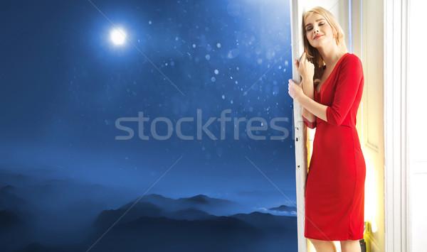 Fancy picture of a smart woman Stock photo © konradbak