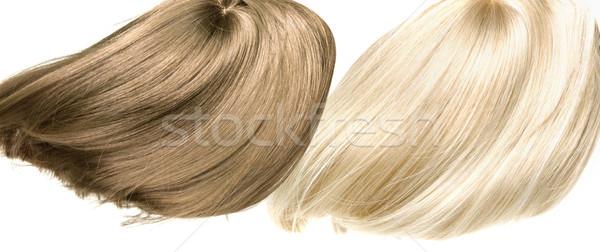 Quadro dois em linha reta denso textura cabelo Foto stock © konradbak