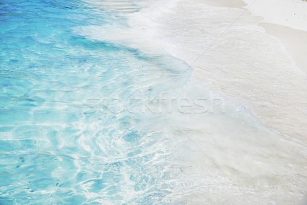 Stok fotoğraf: Okyanus · dalgalar · mavi · su · bahar · gün · batımı