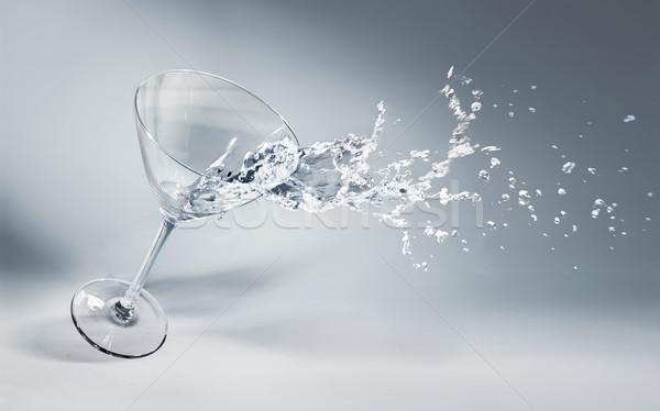 Glass of water and ice on a nice background Stock photo © konradbak