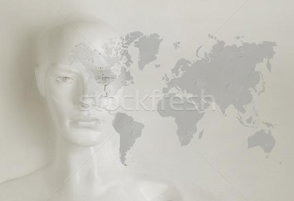 Inteligência artificial internet rede globalização dinheiro moda Foto stock © konradbak