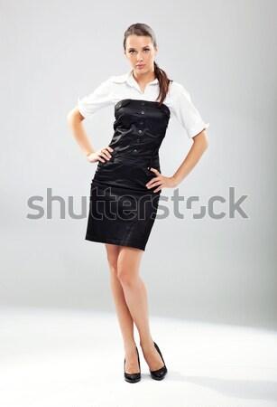 Jeunes femme d'affaires femmes travaux espace portrait Photo stock © konradbak