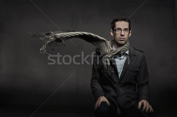 Gorgeous fashion style photo of an elegant man Stock photo © konradbak