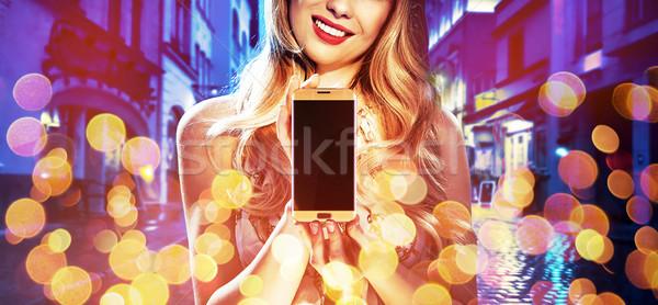 Moda estilo retrato mujer electrónico Foto stock © konradbak