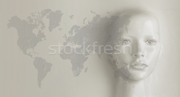 Artificial intelligence concept - world globalization Stock photo © konradbak