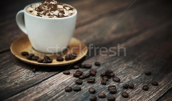 Kısa kırmak kahvehane içmek kafe siyah Stok fotoğraf © konradbak