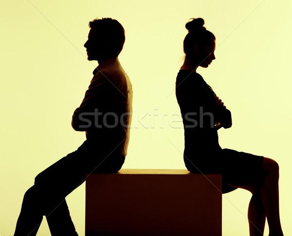 Resim çift kırmak tartışma insanlar adam Stok fotoğraf © konradbak