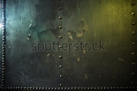 Crushed metal wal in the warehouse Stock photo © konradbak