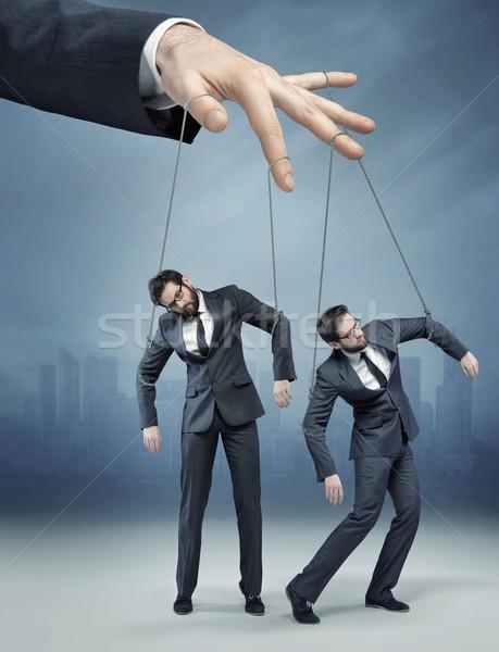 Kép emberi marionett fotó iroda kéz Stock fotó © konradbak