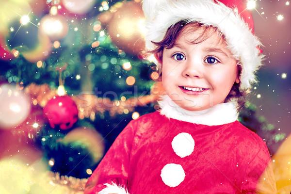 Retrato bonitinho encantador elfo menina pequeno Foto stock © konradbak