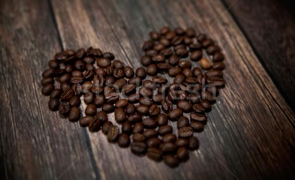 ароматный кофе сердце фотография молоко Сток-фото © konradbak