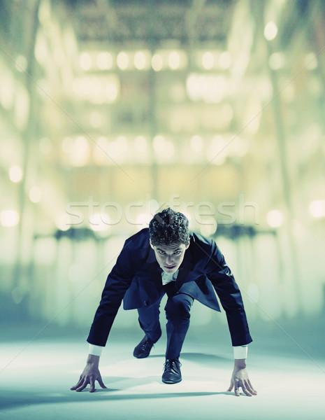 Young businessman starting his career Stock photo © konradbak