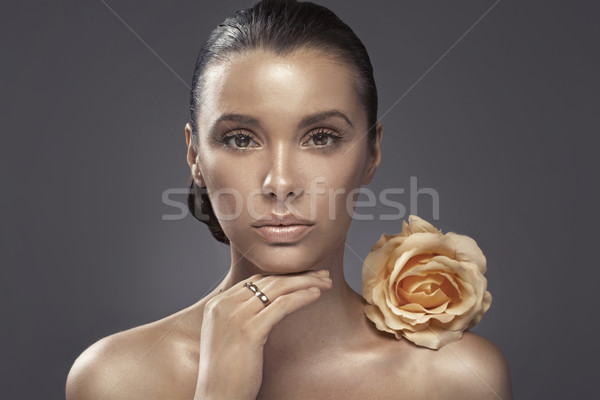 Portrait of the woman with dark complexion Stock photo © konradbak