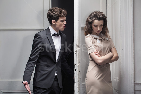 Huge argument between two lovers Stock photo © konradbak