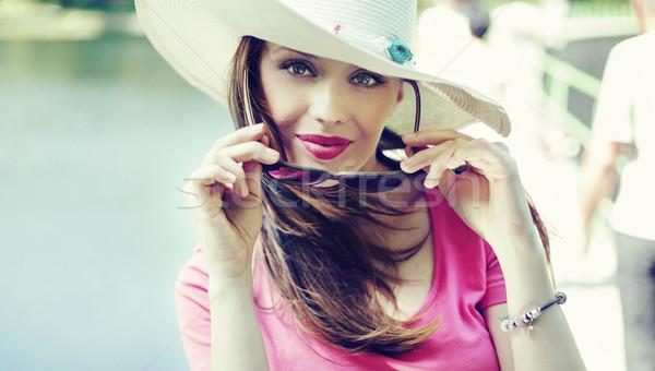 Fine portrait of the elegant lady Stock photo © konradbak