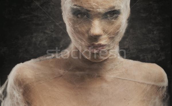Fine art portrait of a young woman in bandage Stock photo © konradbak