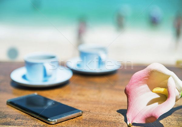 Stock photo: Summer holiday, vacation accessories - tropical area