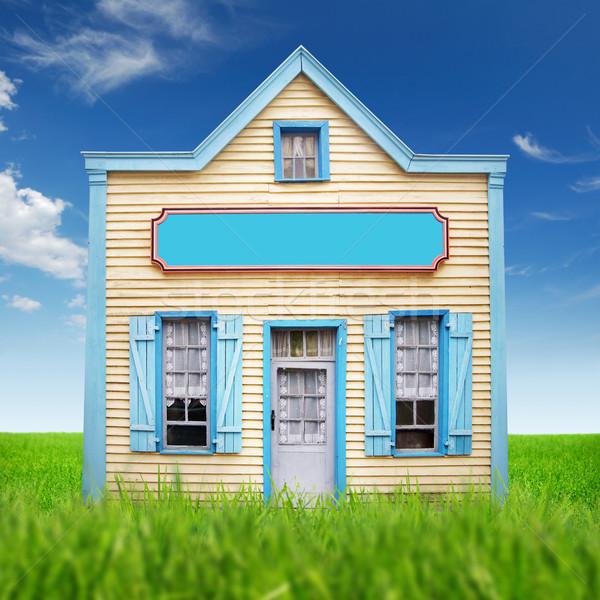 Fancy picture of the simple wooden house Stock photo © konradbak
