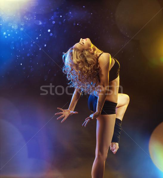 Shapely young woman during the training Stock photo © konradbak
