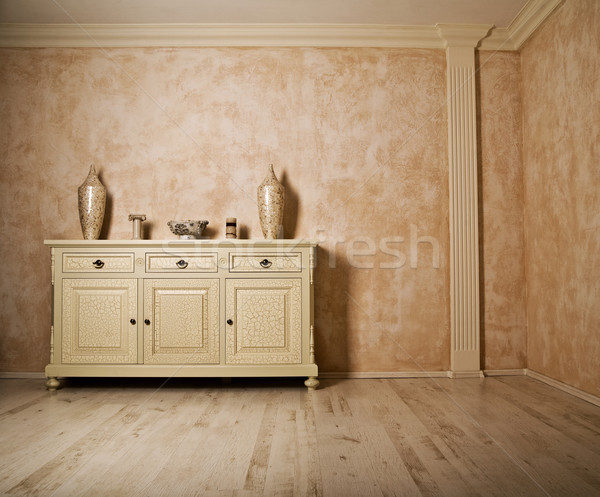 Minimalism designed real room Stock photo © konradbak