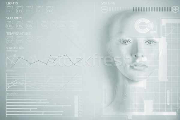 Artificial intelligence concept - smart home Stock photo © konradbak