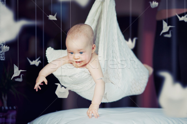 Cute baby boy Stock photo © konradbak