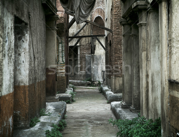 Old abandoned houses in ancient Rome Stock photo © konradbak