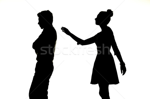 Portrait of the two arguing people Stock photo © konradbak