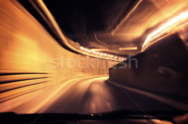 Dynamic photo of a tunnel Stock photo © konradbak