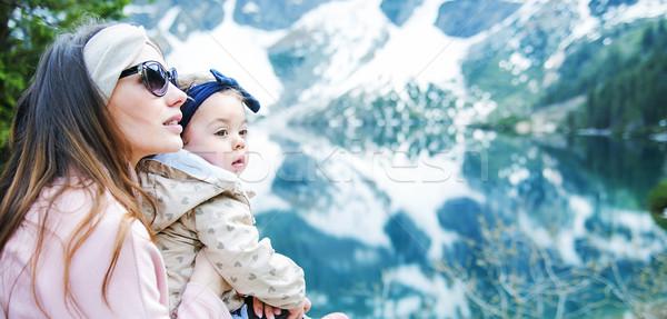 Foto d'archivio: Madre · piccolo · figlia · viaggio · vacanze · famiglia