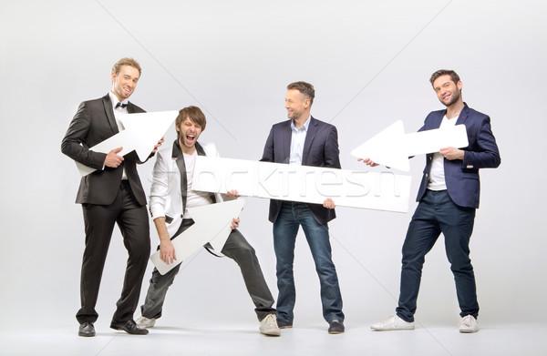 Сток-фото: группа · Стрелки · мужчин · бизнеса
