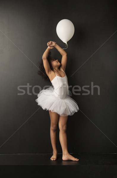 Pretty little ballet dancer with a ballon Stock photo © konradbak