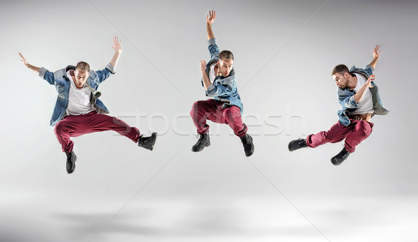 Portrait of a multiple dancing guy Stock photo © konradbak