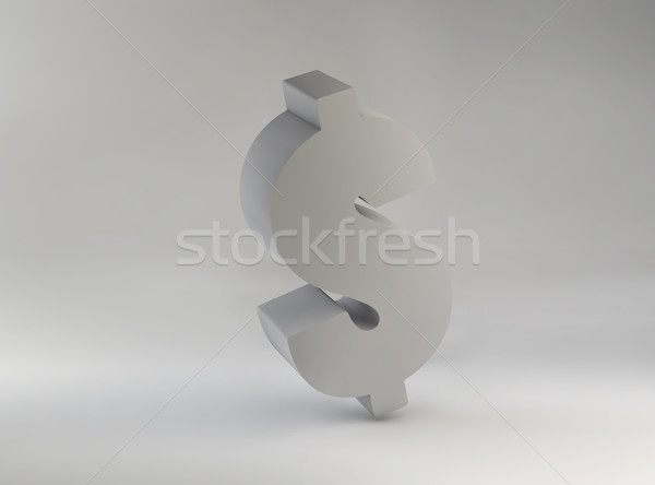 Picture presenting huge dollar sign Stock photo © konradbak