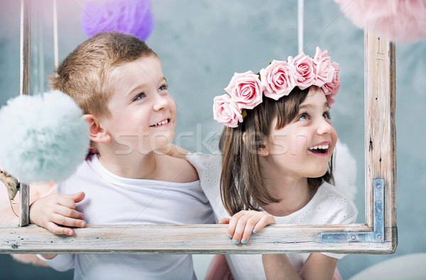 Photo stock: Photo · enfants · enfants · famille · fille