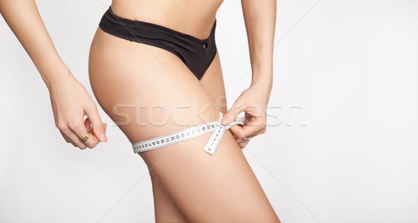 Nő testrész lány fitnessz testmozgás energia Stock fotó © konradbak