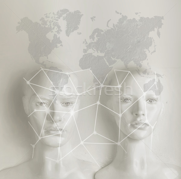 Artificial intelligence concept - Internet, network, globalizati Stock photo © konradbak