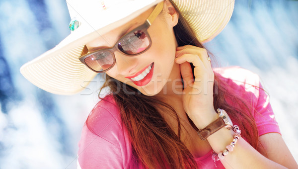 Gorgeous businesswoman on the vacation Stock photo © konradbak