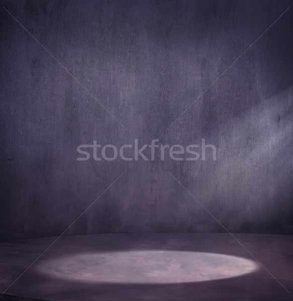 Empty grungy scene with light spot  Stock photo © konradbak