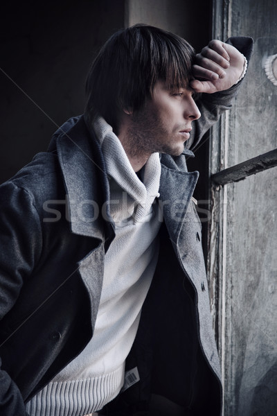 Mode style photo homme cheveux fond Photo stock © konradbak