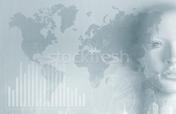 Mesterséges intelligencia diagramok grafikonok számítógép pénz internet Stock fotó © konradbak