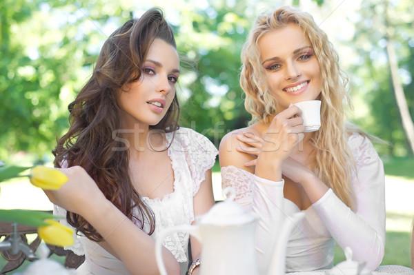 2 女性 昼休み 女性 家族 男 ストックフォト © konradbak