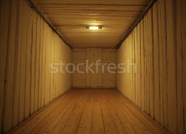 Picture presenting old wooden interior Stock photo © konradbak