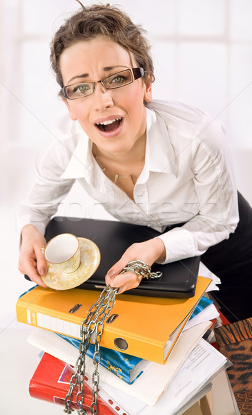 Businesswoman screaming  Stock photo © konradbak