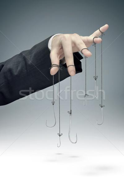 Kép vállalati manipuláció kép iroda kéz Stock fotó © konradbak