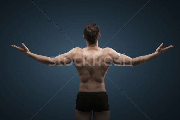 ストックフォト: フィット · 男 · 巨大な · 筋肉 · 男