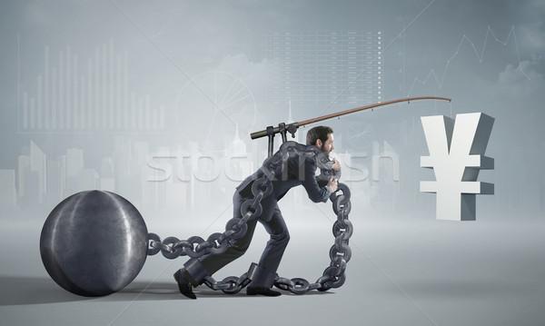 Stockfoto: Foto · presenteren · schuldenaar · business · geld · man