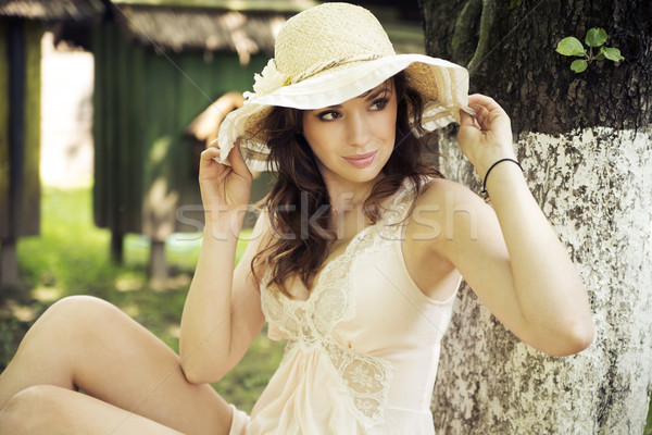 Gorgeous lady with beautiful eyes Stock photo © konradbak